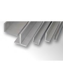 Profilo canalino u in alluminio 15x10