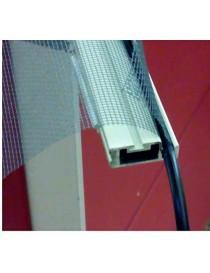 Portarete per zanzariera 2,16m bianco schermo fisso