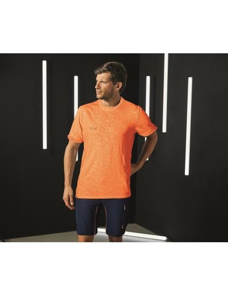 U-POWER T-Shirt Slim Fit in Cotone 145 gr-m2 modello Fluo colore ORANGE 2XL