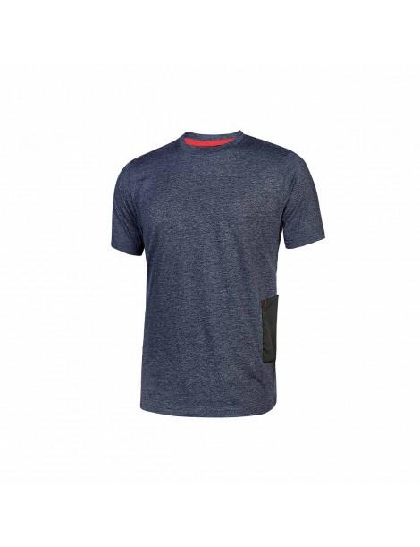 T-Shirt da Lavoro U Power Road - Blue XL
