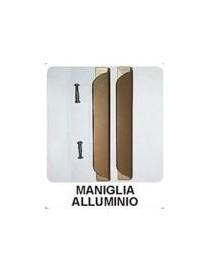Maniglia in alluminio per soffietto bronzo  (2pezzi)