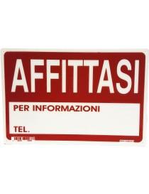 """CARTELLO SEGNALETICO """"AFFITTASI"""""""